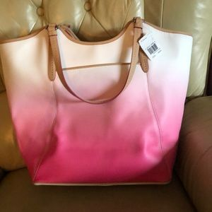 Coach Bags - Coach pink Ombré beach tote with matching wallet
